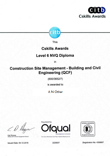 nvq level 6 Construction